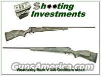 Weatherby Mark V 340 Teflon coated with Outfitters stock