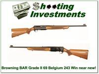 Browning BAR Grade II 243 Win near new!