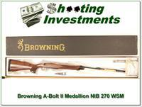 Browning A-bolt II Medallion 270 WSM last ones!