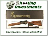 Browning A5 Light 12 Quails Unlimited 1 of 1 NIB!