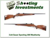 Colt Sauer Sporting 300 Weatherby Magnum!