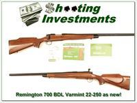 Remington 700 BDL Varmint in 22-250 Rem Exc Cond!