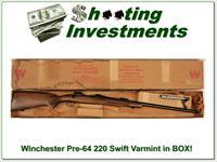 Winchester Model 70 Pre-64 Varmint 22 Swift ANIB, yes in box!