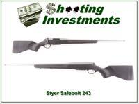 Steyr Safebolt stainless 243 Winchester as new