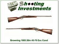 Browning 1885 45-70 26in Octagonal barrel Exc Cond!