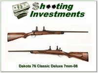 Dakota Model 76 M76 Classic Deluxe in 7mm-08 unfired!