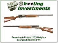 Browning A5 Light 12 73 Belgium Exc Cond!