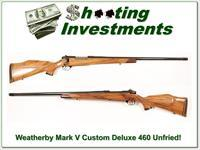 Weatherby Mark V Custom Shop 460 unfired!