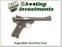 Ruger Mark I 22 LR heavy barrel Exc Cond