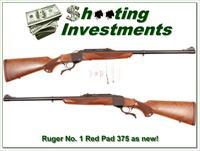 Ruger No. 1 #1 Tropical Red Pad 375 H&H as new