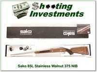 Sako 85 L375 H&H Stainless Walnut unfired in box!