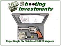 Ruger Single Six New Model Stainless 22 22Mag