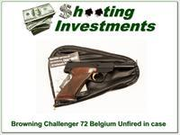 Browning Challenger 72 Belgium unfired in case with manual!