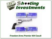 Freedom Arms Premier Grade 454 Casull with ammo