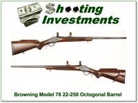 Browning Model 78 22-250 Octagonal Barrel Exc Cond!