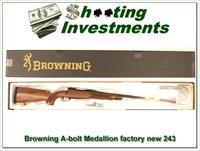 Browning A-bolt II Medallion 243 last of the new ones!