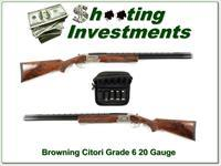 Browning Citori Grade VI 20 Gauge XXX Wood Exc Cond!