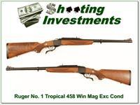 Ruger No. 1 #1 Tropical in 458 Win Mag about new