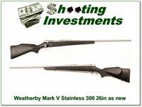 Weatherby Mark V USA made Stainless 300 Wthy Mag near new