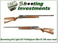 Browning A5 Light 20 74 Belgium 26in VR IC near new!