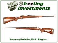 Browning Medallion Grade 62 Belgium 338 Win Exc Cond!