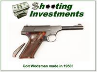 Colt Woodsman 1950 2nd Series 4.5in Coltwood grips extension