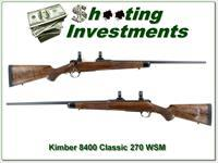 Kimber 8400 Classic 270 WSM XX Wood as new!