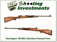 Remington 700 BDL Vintage Pressed Checkering Stainless!