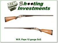 WR W.R. Pape 12 gauge Double Side by Side