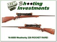 Weatherby RARE 220 Rocket!