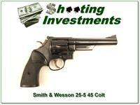 Smith & Wesson 25-5 45 Colt Blued 6 in