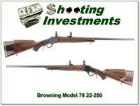 Browning Model 78 22-250 Heavy Barrel Exc Cond