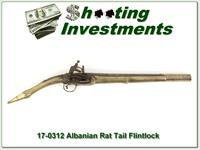 Albanian Rat Tail Miquelet Flintlock Antique!