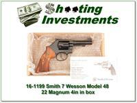 Smith & Wesson Model 48-7 4in 22 Magnum ANIB!
