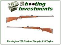 Remington 700 Custom Shop 416 Taylor