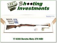 Beretta MATO 270 Win XX Walnut Rare in box!