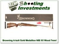 Browning A-bolt Gold Medallion 7mm NIB XXX Wood!
