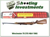 Winchester Model 70 1965 375 H&H unfied in box!