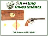 Colt Trooper Mark III 8in ANIB 22 LR
