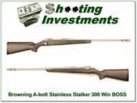Browning A-bolt Stainless Stalker 300 WIN BOSS