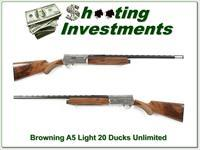 Browning A5 20 Gauge Ducks Unlimited unfired XX Wood!