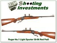 Ruger No.1 Light Sporter Red Pad 30-06