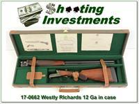 Westley Richards 12 Gauge Exc Cond in case