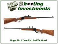 Ruger No. 1 Medium Sporter 7mm Rem Mag Red Pad super wood!