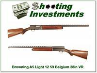 Browning A5 Light 12 59 Belgium 28in VR