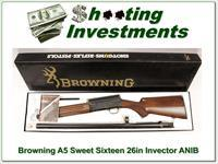Browning A5 Sweet Sixteen 26 in Invector New in Box!