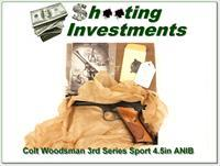 Colt Woodsman 3rd Series Sport 4.5in in box MINT!