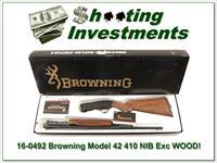 Browning Model 42 410 NIB Box XX WOOD!