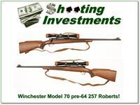 Winchester Model 70 1953 pre-64 257 Roberts Exc Cond!