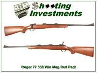 Ruger Model 77 in 338 Winchester Mag older Red Pad